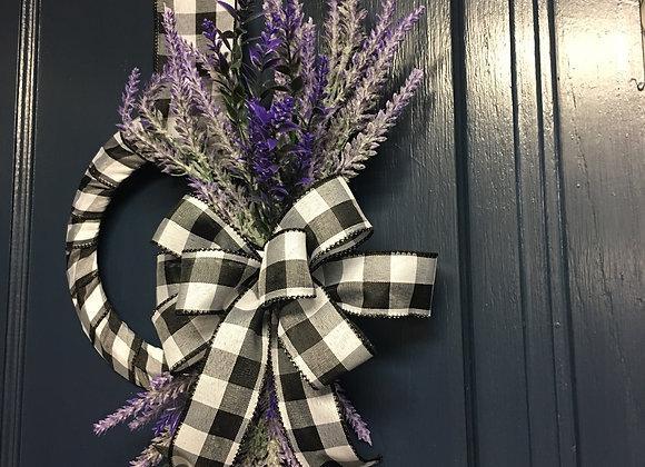 Farmhouse Spring Lavender Mini wreath