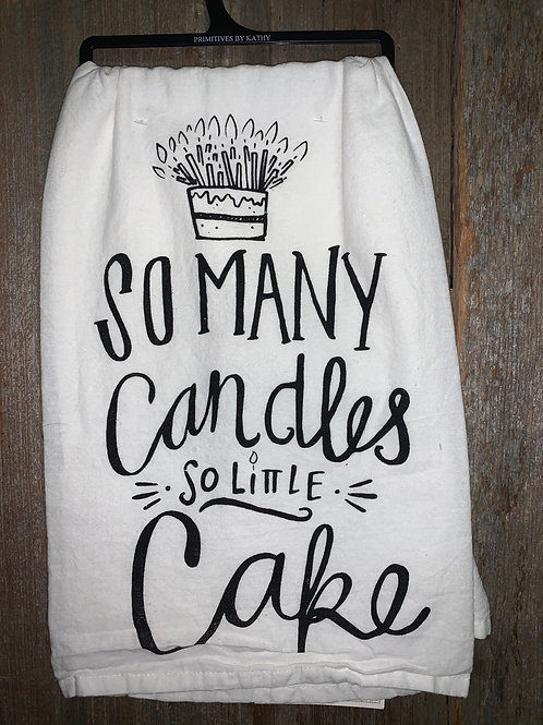 """Candles & Cake"" Dish Towel"