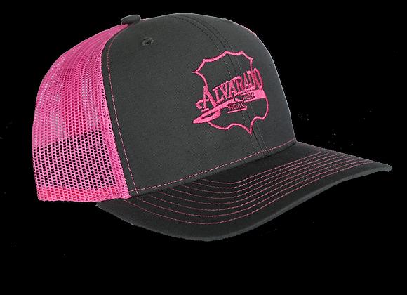 Pink/ Gray ARS Logo Snapback Hat w/ Pink Stitch