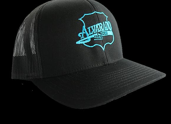 Black ARS Logo Snapback Hat w/ Blue Stitch