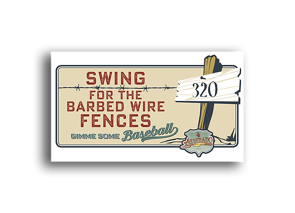 Swing For The Barbed Wire Fences - Sticker