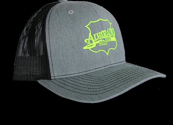Gray/ Black ARS Logo Snapback Hat w/ Green Stitch