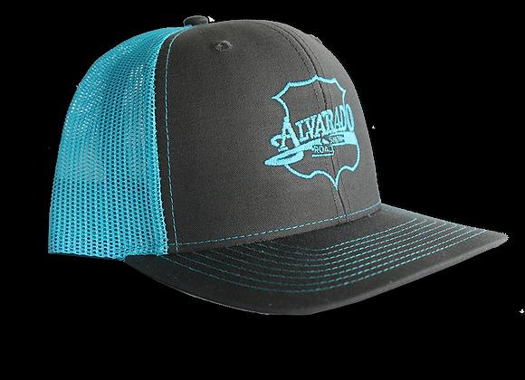 Blue/ Gray ARS Logo Snapback Hat w/ Blue Stitch