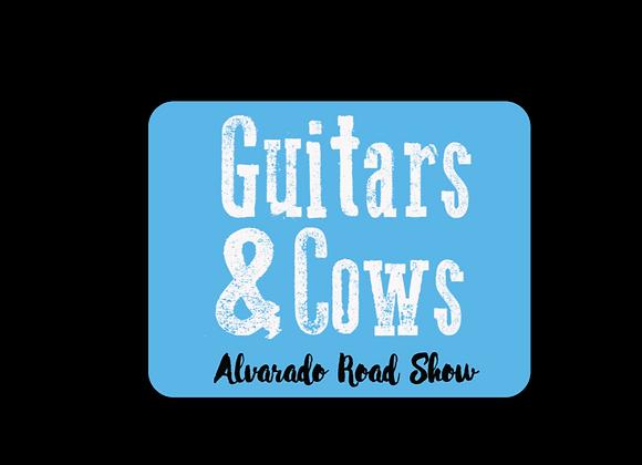 Guitars & Cows - Sticker