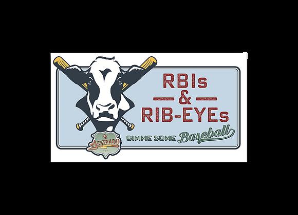 RBIs & Rib-eyes - Sticker