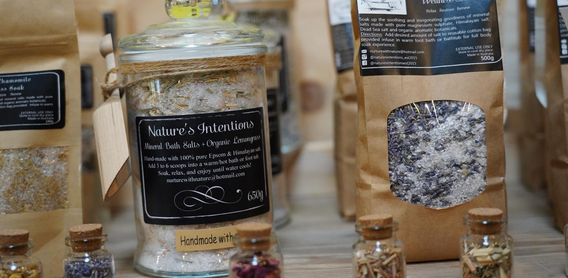 Nature's Intentions' bath salts