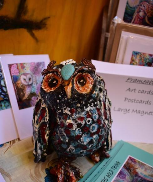 Owl Sculpture by Cheryle Bannon