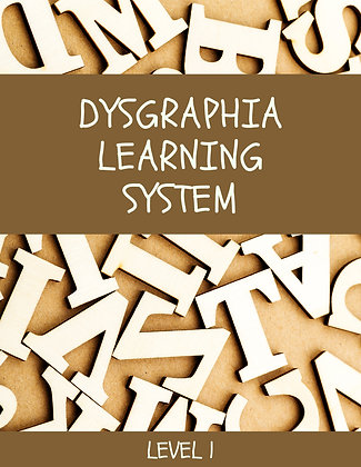 Dysgraphia Learning System Level 1