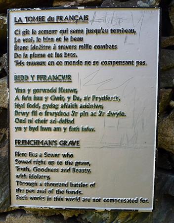 Frenchman's Grave Plaque