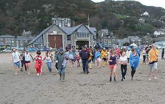 New Year Swim RNLI Barmouth