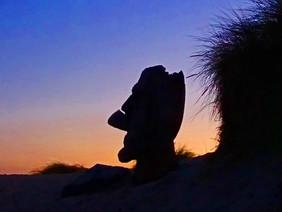 Moai Sunset