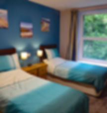 Noddfa Twin Bedroom, Bryn Melyn Apartments