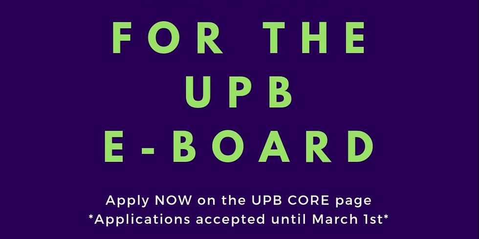 UPB E-Board Applications Close