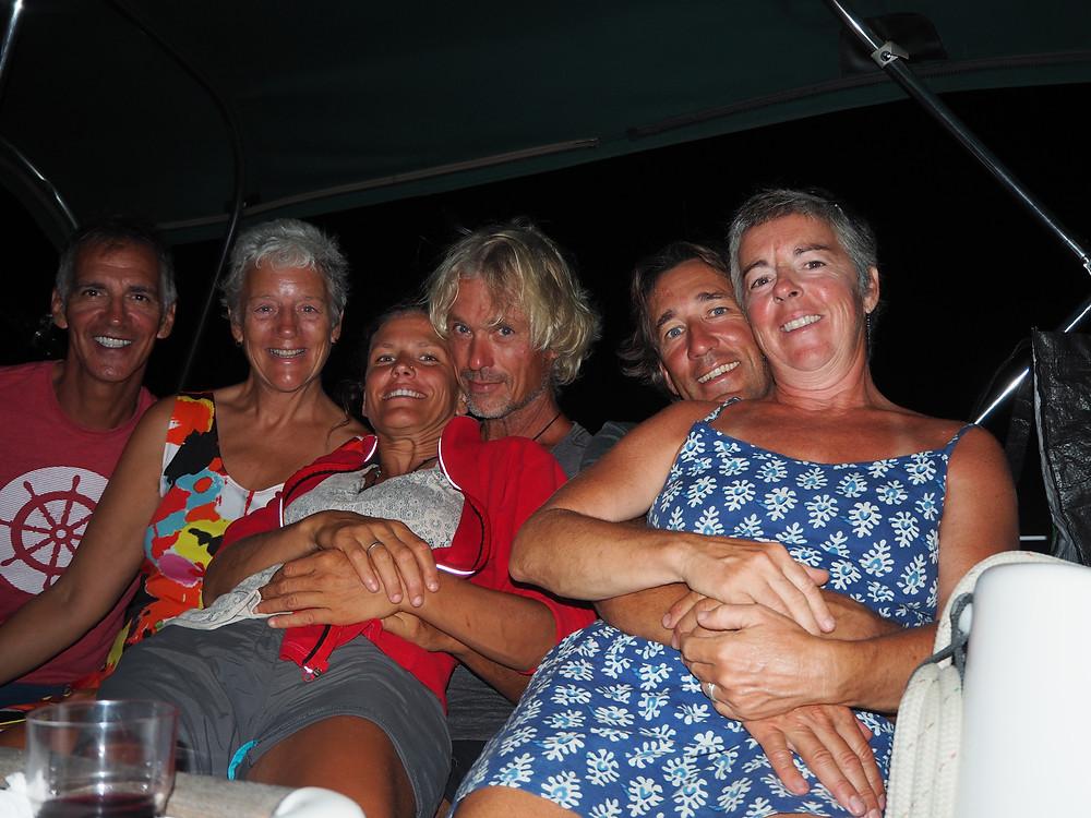 Avec nos amis Louise, Stephane, Sophie et André