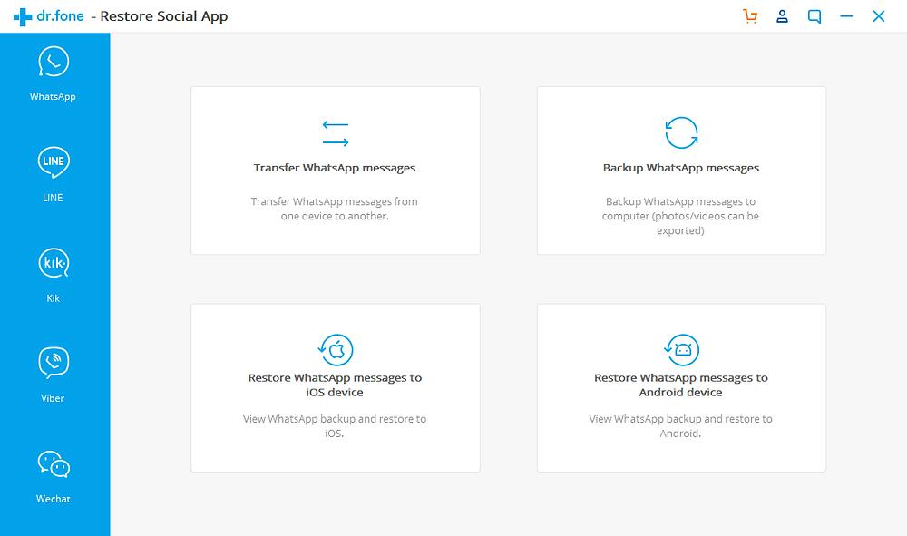 Dr. Fone restore social app screen
