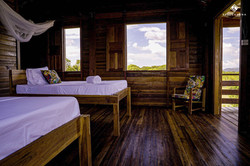 Our lovely guest cabins
