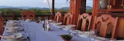 The dinner table at dusk