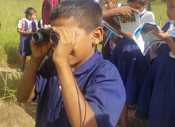 A pair of Binoculars for school bird watching