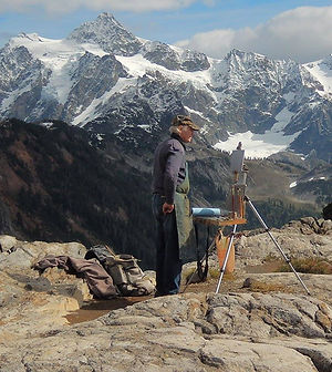 Me Painting at Mt. Shuksan Sept. 2017.jp