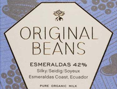 Esmeraldas with Fleur de Sel 42% /milk