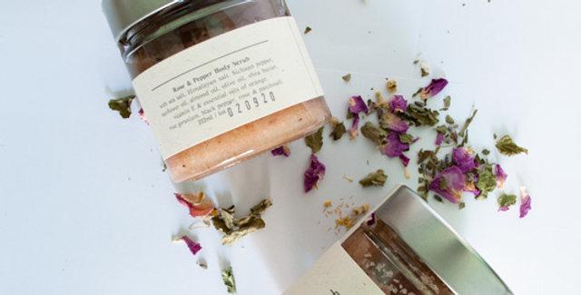 Body scrub Rose Geranium & Pepper