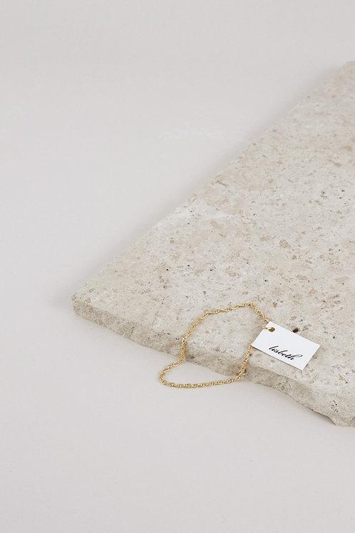 Lisbeth Nikki 14k Gold Fill Rope Chain Bracelet