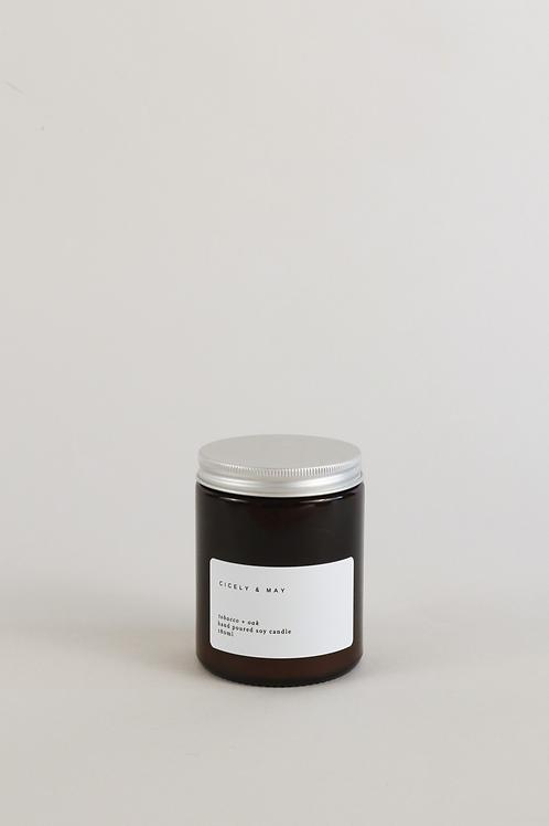 Cicely & May Candle 180ml - Vanilla & Neroli
