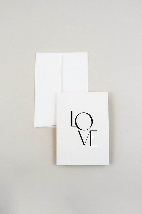 Greetings Card - Love