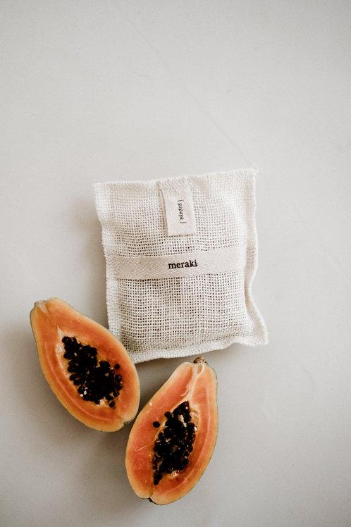Meraki Bath Mitt Papaya