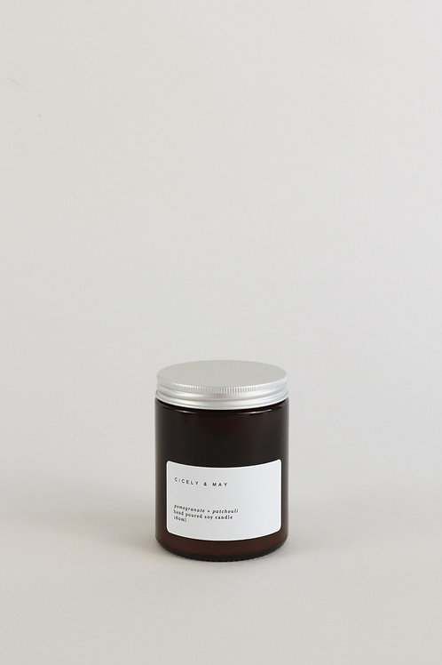 Cicely & May Candle 180ml  - Pomegranate & Patchouli
