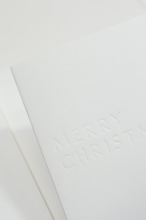 Blind Pressed Christmas Card
