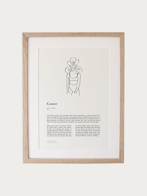 Sunday Lane Cancer Woman Zodiac Print