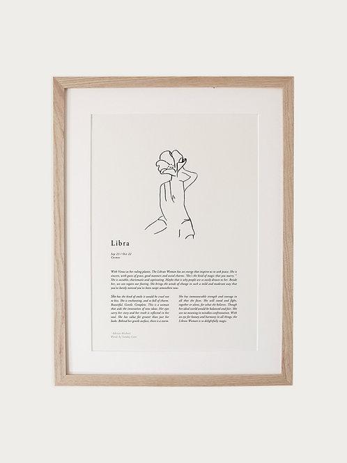 Sunday Lane Libra Woman Zodiac Print