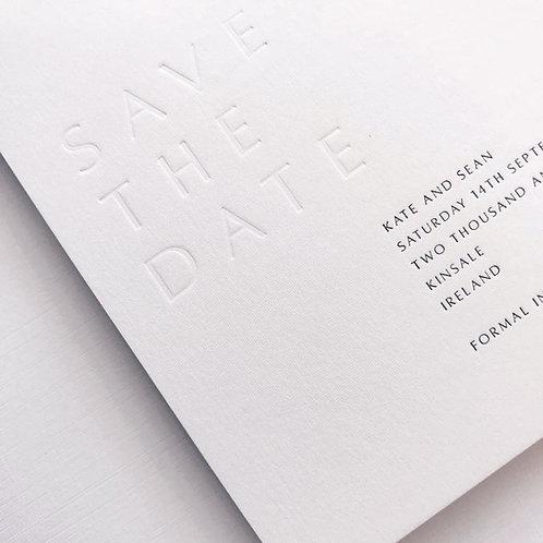Rain Save The Date Sample