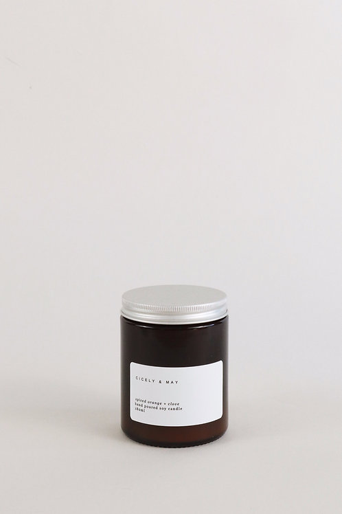 Cicely & May Candle 180ml  - Spiced Orange & Clove