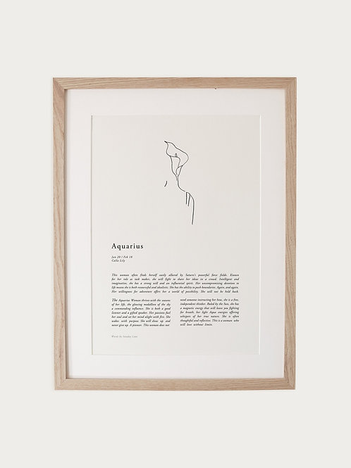 Sunday Lane Aquarius Woman Zodiac Print