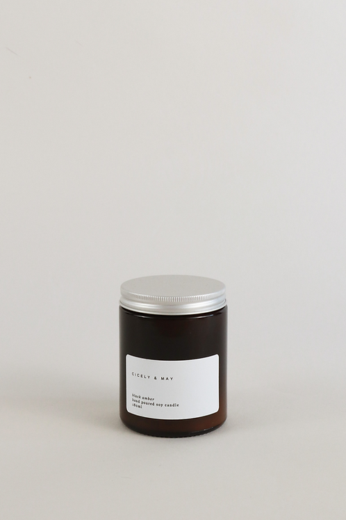 Cicely & May Candle 180ml  - Black Amber