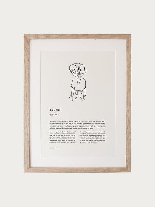 Sunday Lane Taurus Woman Zodiac Print