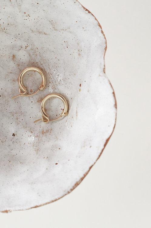Lisbeth Mini Robbie 14k Gold Mini Hoop Earrings