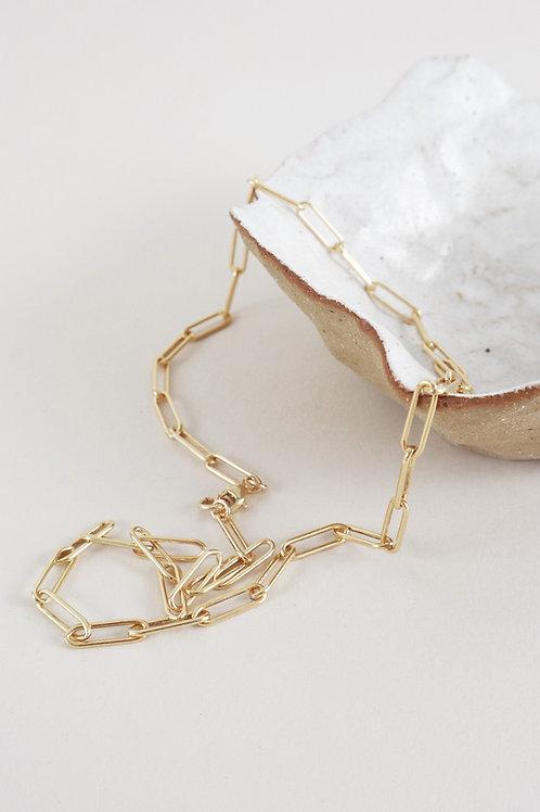 Lisbeth Miriam 14k Gold Fill Box Chain Necklace