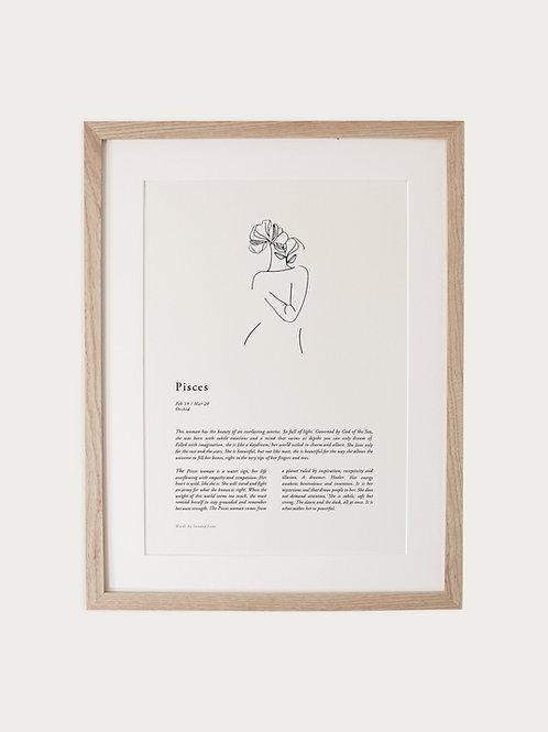 Sunday Lane Pisces Woman Zodiac Print
