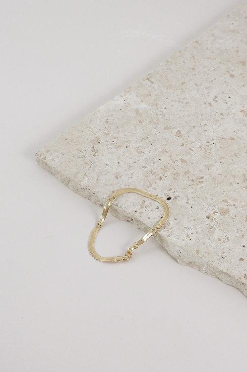 Lisbeth Herringbone 14k Gold Fill Bracelet