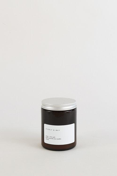 Cicely & May Candle 180ml  - Sage & Sea Salt