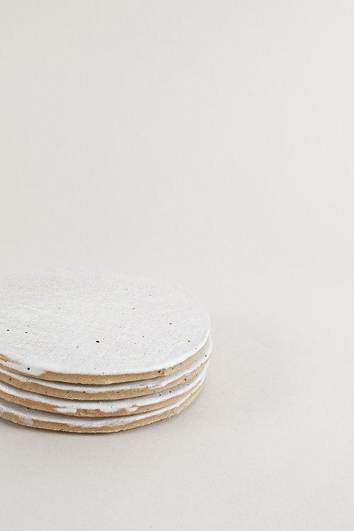 Every Story White Flecked Coasters Set Of 4