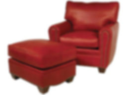 classic-leather-bowden-chair-ottoman-red