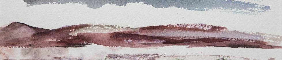 Akvarellimaalaus Tunturi 2 Kaisa Sirén maalaus taide