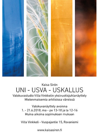 Valokuvanäyttely Uni - Usva - Uskallus, Kaisa Sirén