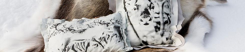 Art on Sofa -poronnahkatyynyt design