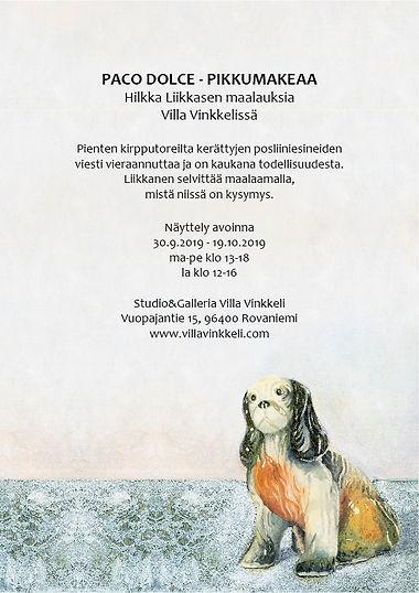 Taidenäyttely Paco Dolce - Pikku Makeaa, Hilkka Liikkanen