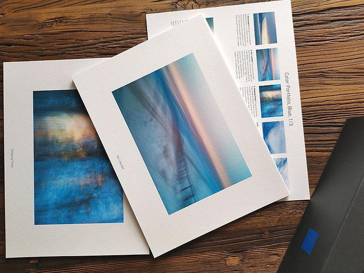 Portfoliolaatikko Sininen